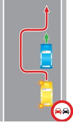 Выезд в нарушение требований, предписанных дорожными знаками, на полосу, предназначенную для встречного движения.