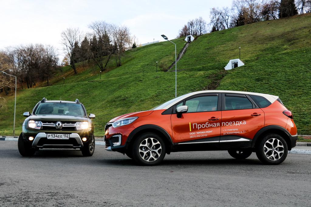 Renault Duster и Renault Kaptur фото
